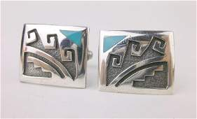Gorgeous Vintage Taxco Sterling Silver Cufflinks Set
