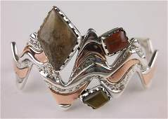 Carolyn Pollack Sterling Silver Jasper Cuff Bracelet