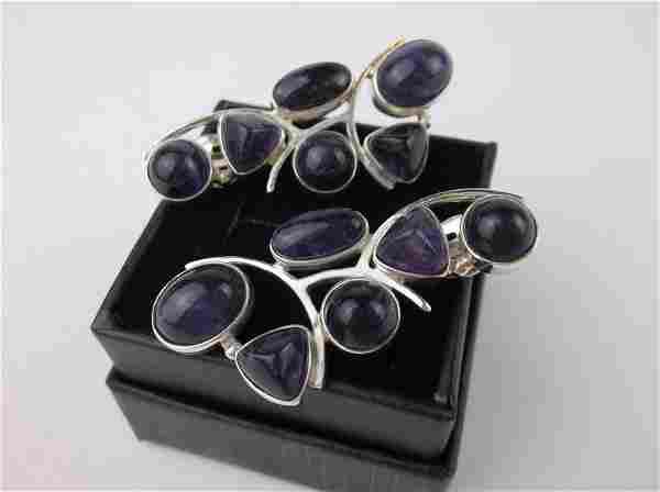 New Desert Rose Trading Sterling Amethyst Earrings