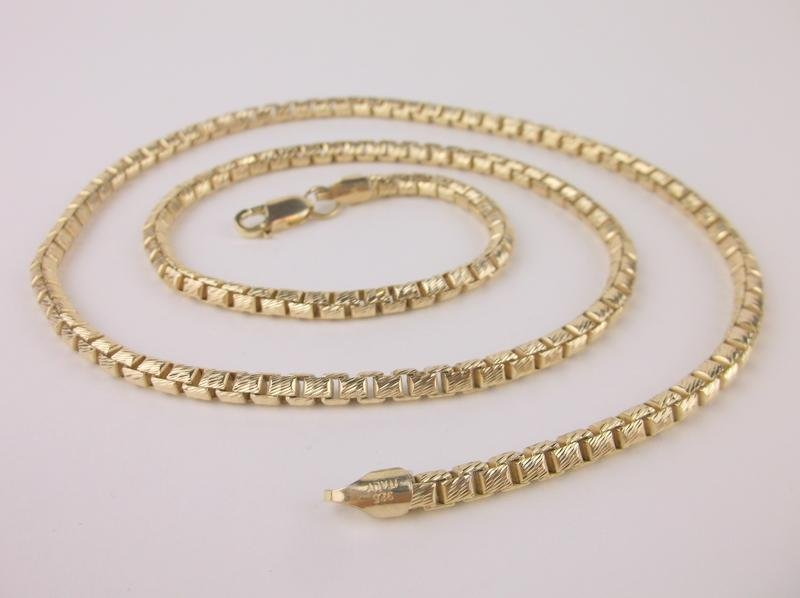 """New Super Heavy Gold Over Sterling Chain Necklace 24"""""""