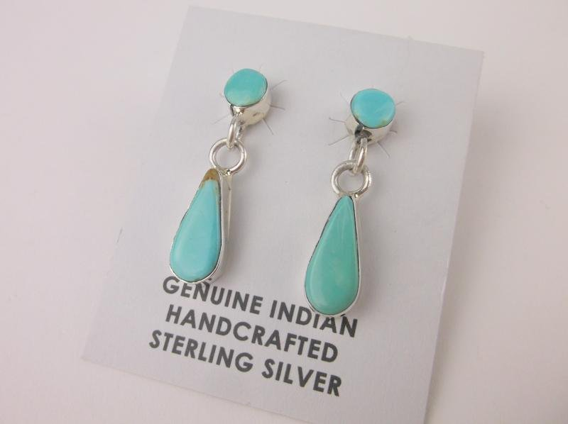 Victor Thompson Navajo Sterling Turquoise Earrings