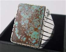 Huge Navajo Ray Jack Sterling 8 Turquoise Ring 13