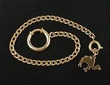 Antique 1910s 12kt GF Camel Pocket Watch Chain 8