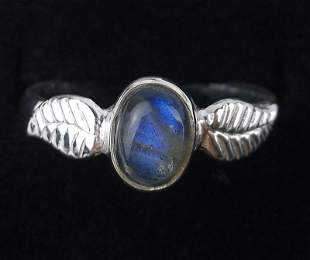 New Sterling Silver Labradorite Ring Size 7