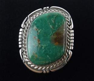 Navajo Dave Skeets Sterling Silver Turquoise Ring 7