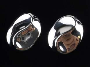 Mint Sterling Silver Taxco Earrings TB179 Heavy Large
