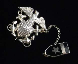 WWII US Navy Sterling Silver Medal