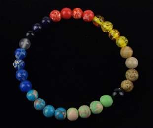 New Healing Genuine Multi Gemstone Bracelet 6mm