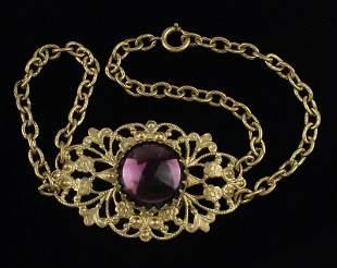 Stunning 1910s Art Nouveau Bracelet 7-8 Inch Ornate