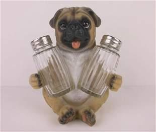 New In Box Pug Dog Salt Pepper Shaker Set