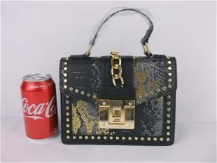 New Faux Snakeskin Handbag Purse Stunning