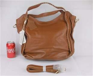 New NWT Huge Patrizia V Italian Leather Handbag