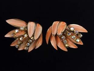 Stunning 1950s Rhinestone Dangly Earrings