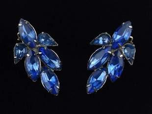 Stunning 1950s Rhinestone Earrings Vintage