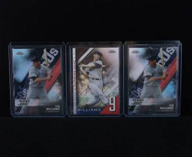 3 Mint Ted Williams Topps Chrome Refractor Lot Red Sox