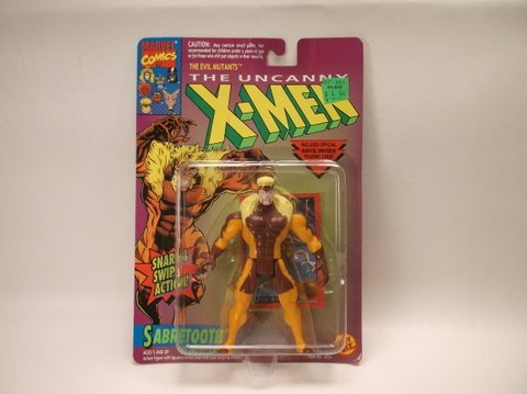 Vintage 1993 X-Men Sabretooth Figure MOC
