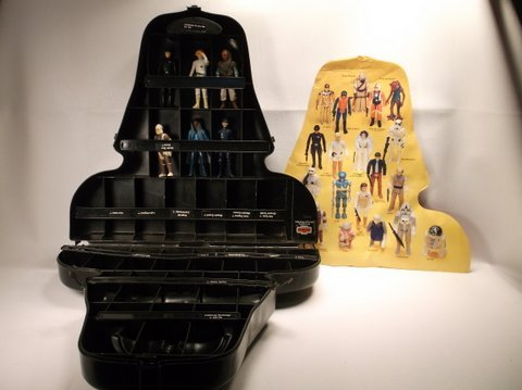 Vintage 1980 Star Wars Darth Vader Case With Figures