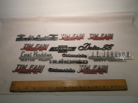 Lof of Old Car Emblem Badges