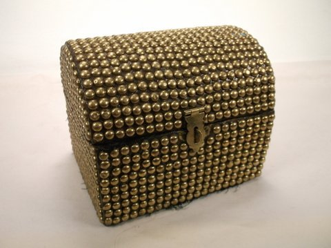 Brass Ball Trinkit Box