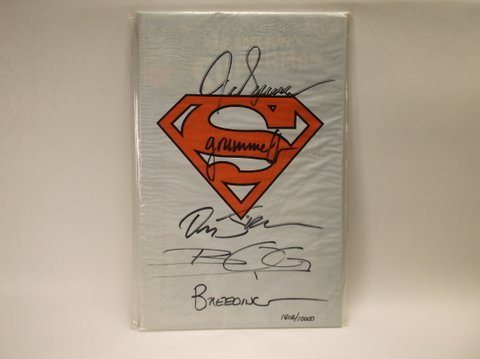 Multi Autographed Superman Comic Book Sealed COA