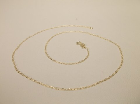 "Nice New 18"" Gold Over Sterling Silver Chain Necklace"
