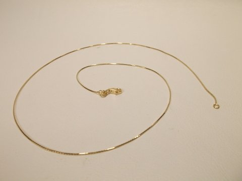 """New 18"""" Gold Over Sterling Silver Chain Necklace"""