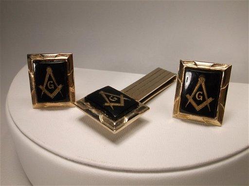 1027a356d79c Nice Vintage Masonic Masons Cufflinks Tie Bar Set - Sep 15, 2014 ...