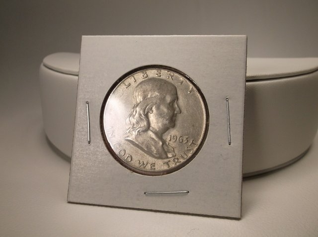 1963 US Silver Franklin Half Dollar Coin