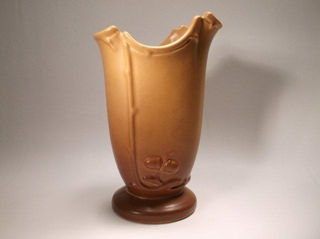 Nice Antique Weller Pottery Oak Leaf Vase - 2