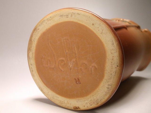 Nice Antique Weller Pottery Oak Leaf Vase - 3
