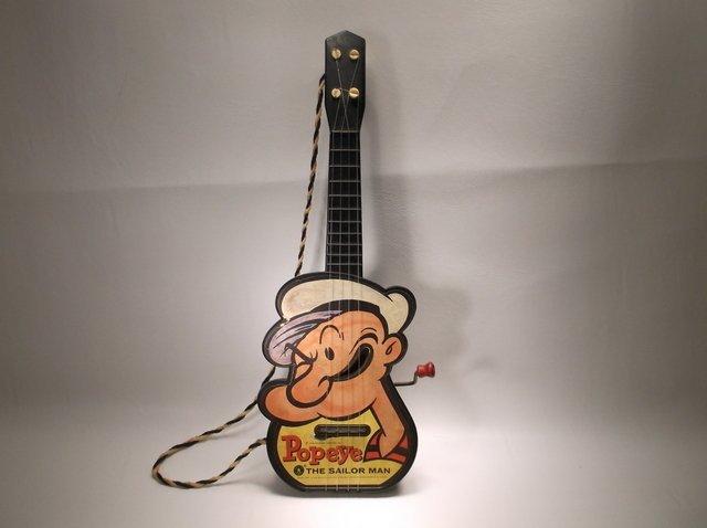 Rare Vintage Mattel Popeye Sailor Man Guitar