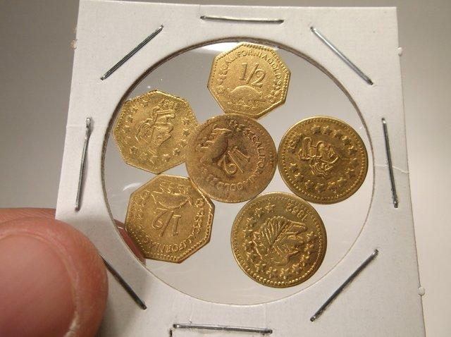 6 Nice California Gold Rush Coins