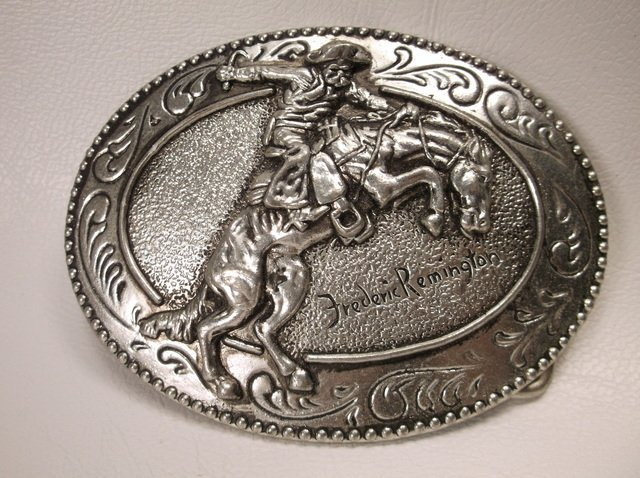 Nice Frederic Remington Bronco Buster Belt Buckle