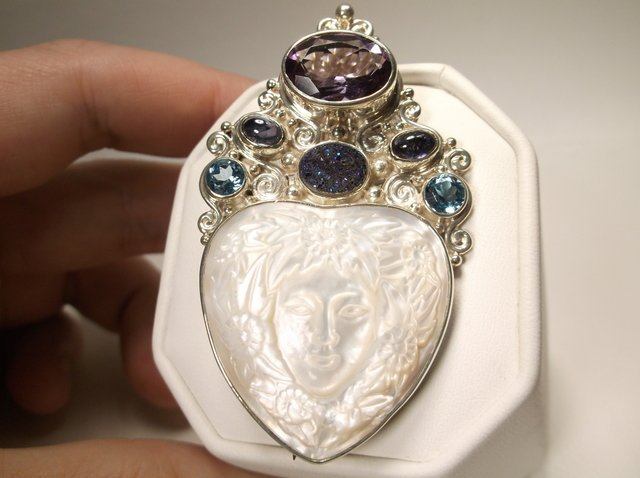Incredible Sajen Sterling Silver Gem Goddess Pend