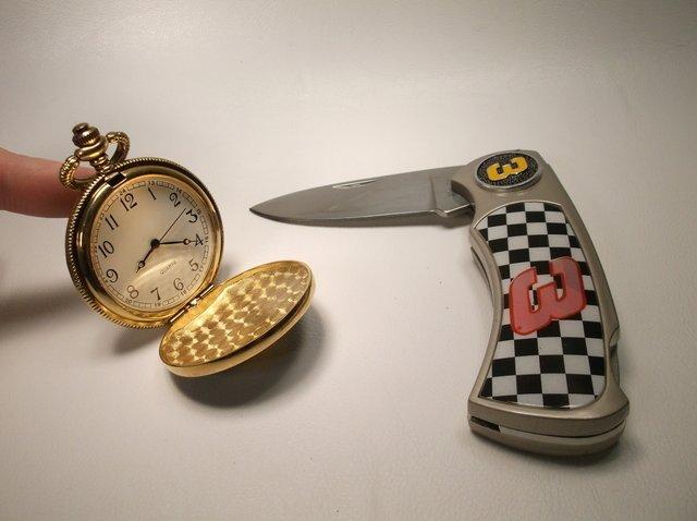 Nice Dale Earnhardt Knife Pocket Watch Set - 2