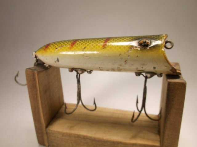 Antique Wood Heddon Lucky 13 Fishing Lure