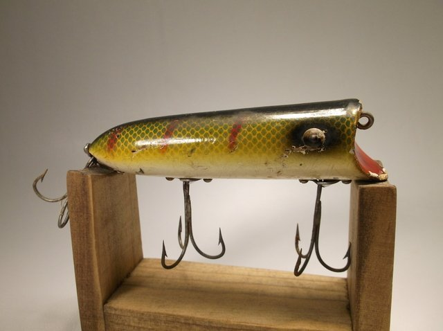 Antique Wood Heddon Lucky 13 Fishing Lure - 2