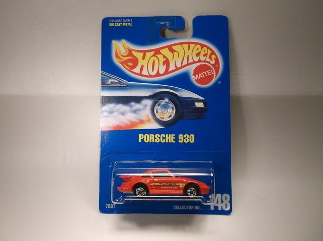 Vintage 1991 Hot Wheels Porsche 930 7607 MOC