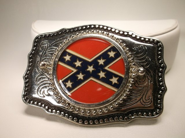 Nice Rebel Flag Belt Buckle