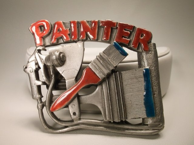 Nice Vintage Painter Career Belt Buckle