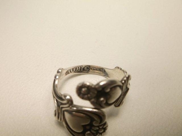 Nice Vintage Avon Sterling Silver Spoon Ring 9 - 2