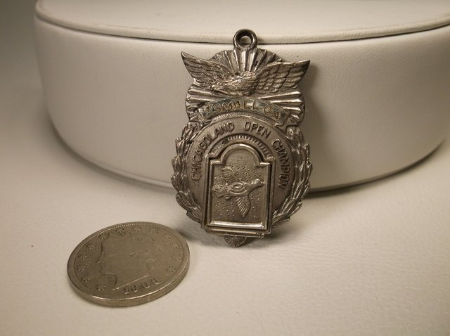 Rare Antique 1959 Sterling Duck Shooting Medal