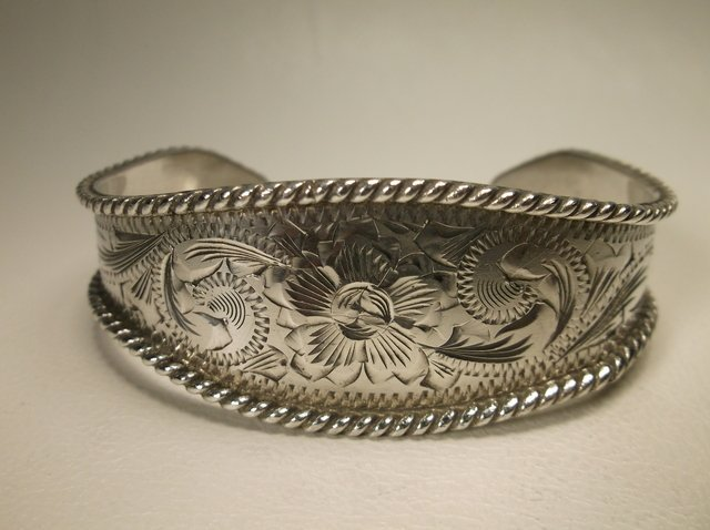 Gorg Vintage Sterling Silver Taxco Cuff Bracelet Vogt