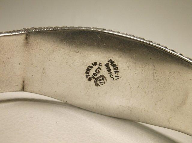 Gorg Vintage Sterling Silver Taxco Cuff Bracelet Vogt - 4
