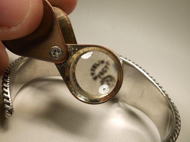 Gorg Vintage Sterling Silver Taxco Cuff Bracelet Vogt - 5