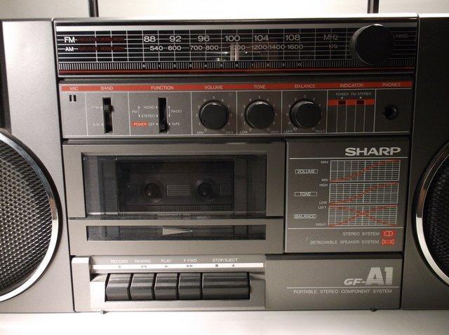 Nice Vintage Sharp GF-A1(d) Boom Box Awesome - 2