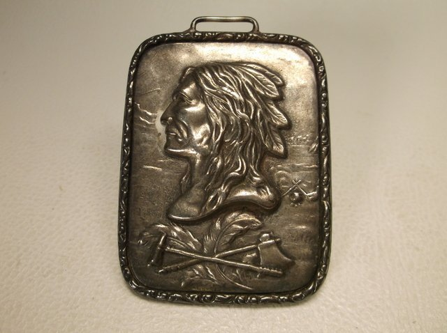Incredible Antique Sterling Silver Indian Watch Fob