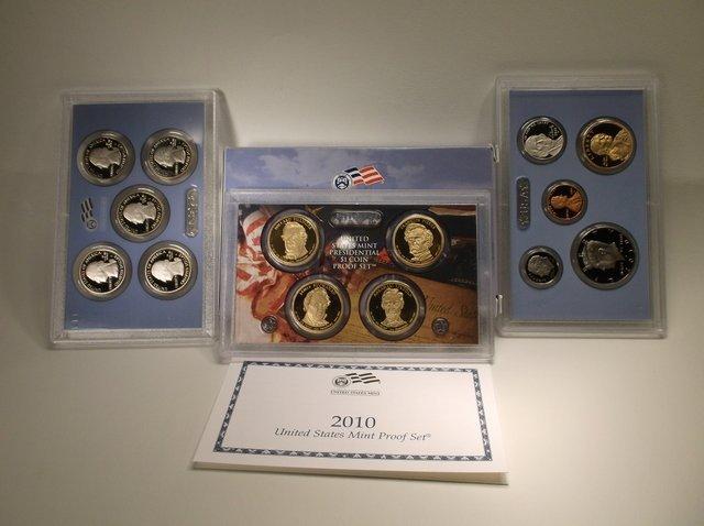 2010 US Mint Proof Set Dollars State Quarters Etc