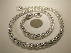 Gorg Crazy Heavy Sterling Silver Chain Necklace 20