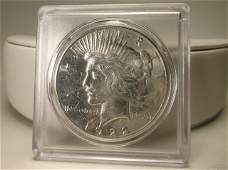 1922 S US Silver Peace Dollar